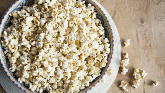 Air- popped popcorn healthy evening snacks recipe