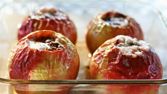 recipe forBaked apple healthy snacks for evening