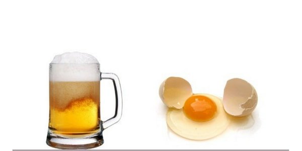 beer and egg for hair