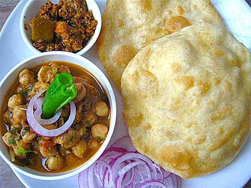 Chole Bhature north indian food