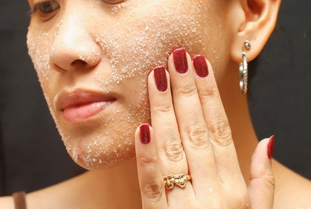 skin care routine for combination skin- exfoliate
